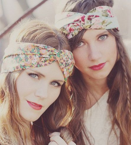 Simple Bandana Headband Hairstyle