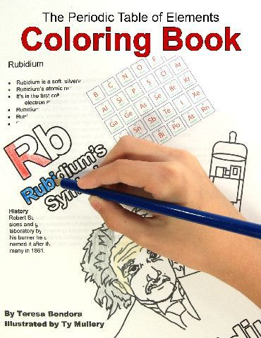 The periodic table of elements coloring book this for Table of elements 85