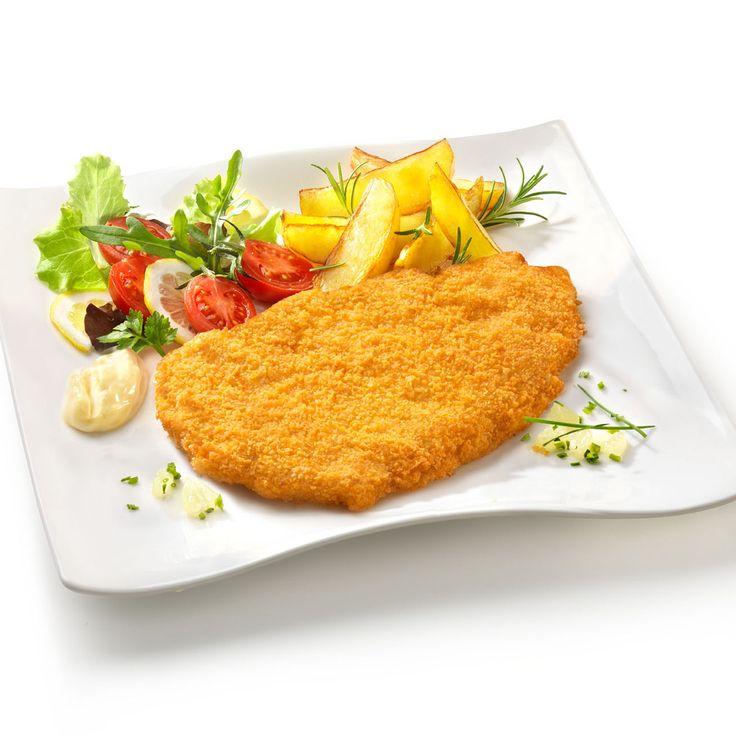 Cotoletta con patate arrosto croccanti