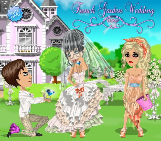 French Garden Wedding on #moviestarplanet #MSP www.moviestarplanet.com