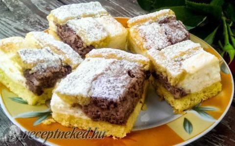 Csokis-vaníliás pite recept fotóval