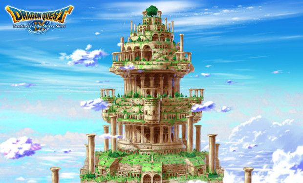 Dragon Quest 9 environment art - maintain themes and designs in the various locations