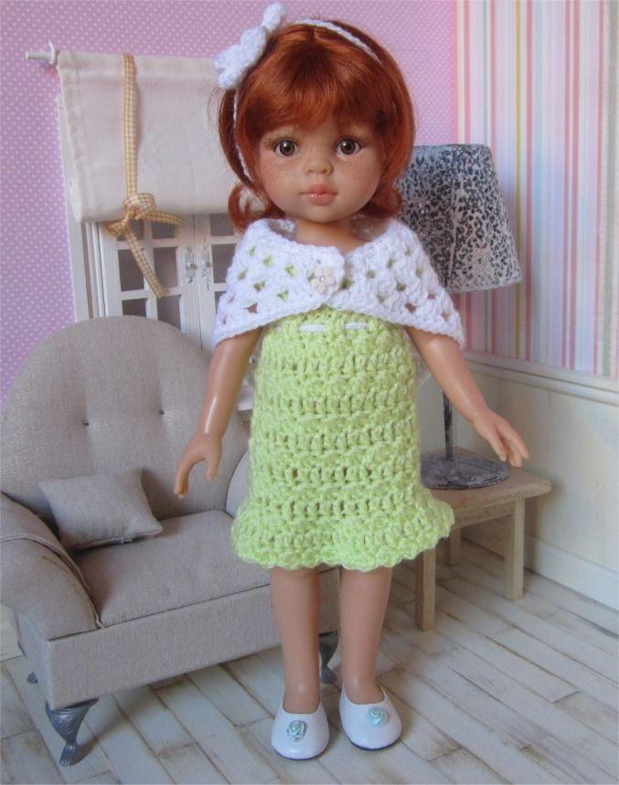 103- FICHE PATRON CROCHET Tenue Anaïs pour poupée Paola Reina ou Chéries de Corolle : Jeux, jouets par atelier-crochet