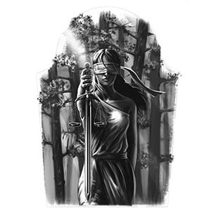 Lady Justice Tattoo Designs