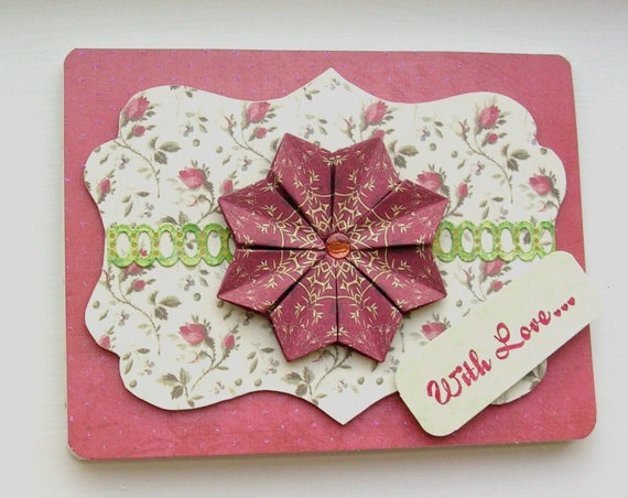 Roses and Ivory Tea Bag Folding CardCrafts Ideas, Cards Ideas, Iris Teas, Teabag Folding, Greeting Cards, Cream Teas, Teas Bags Folding Cards, Folding Ideas, Ivory Teas