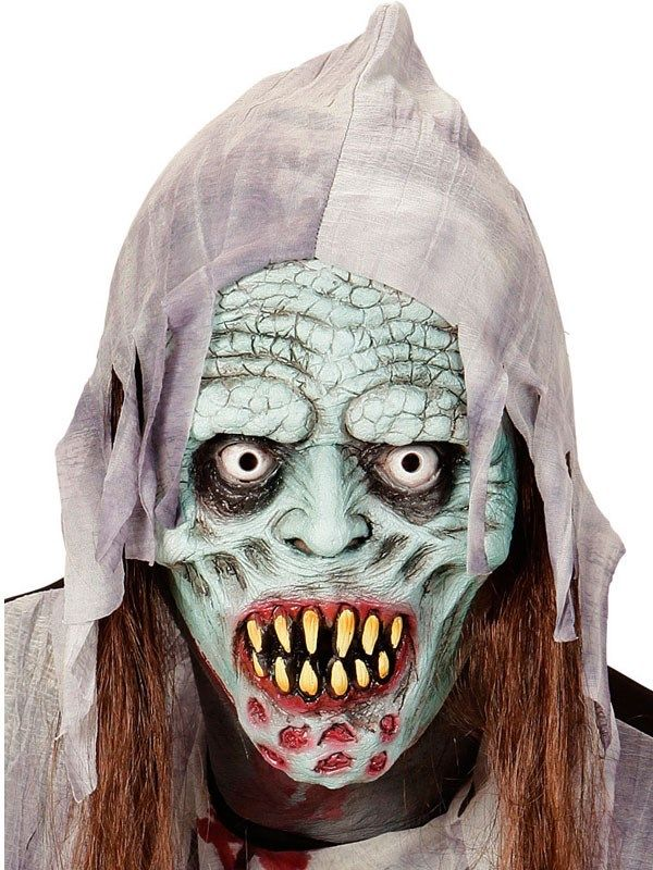 Zombie maske med hår kr. 95,00