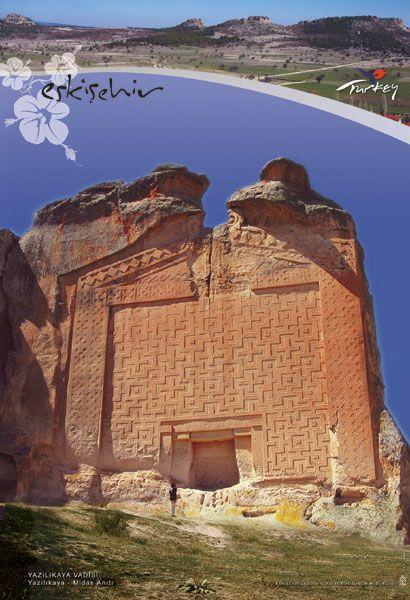 Yazilikaya, Eskisehir province, Turkey. King Midas' tomb.