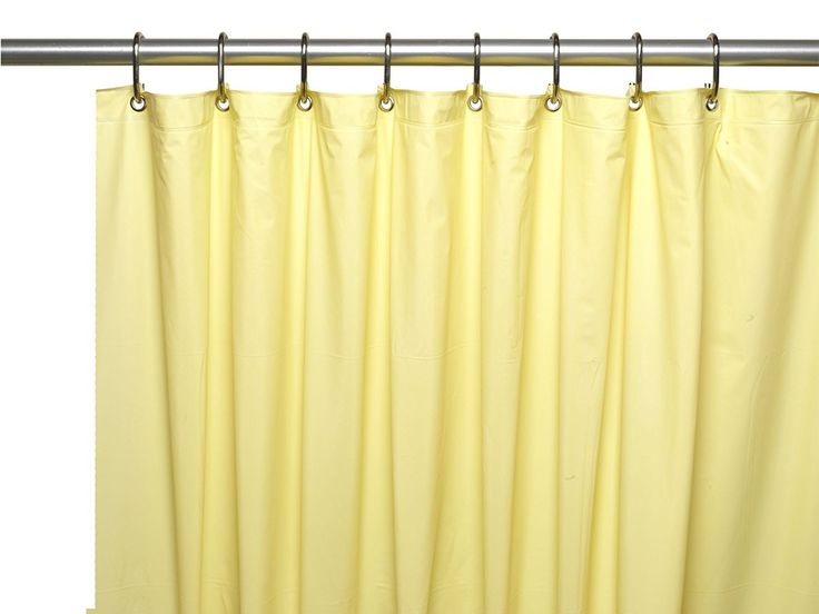 "Royal Bath Heavy 4 Gauge Vinyl Shower Curtain Liner with Weighted Magnets and Metal Grommets (72"" x 72"") - Yellow"