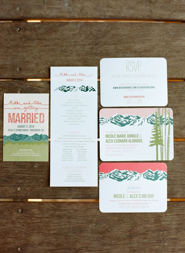 mountain wedding invitations photo by Laura