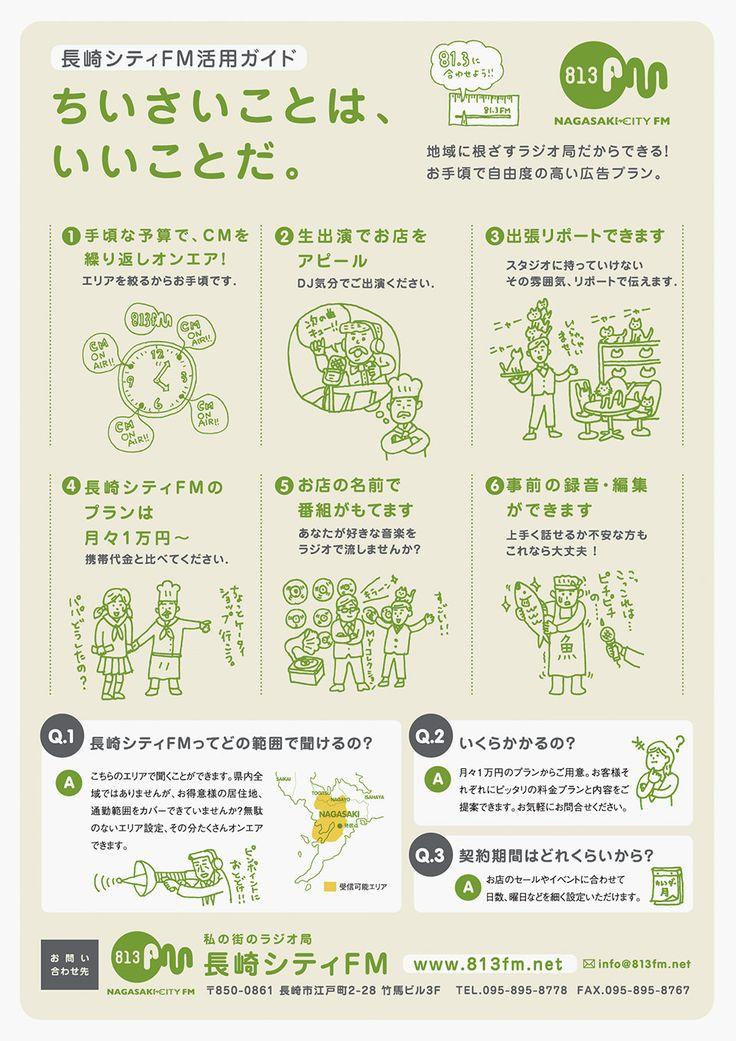 リーフレットのデザイン|長崎シティFM