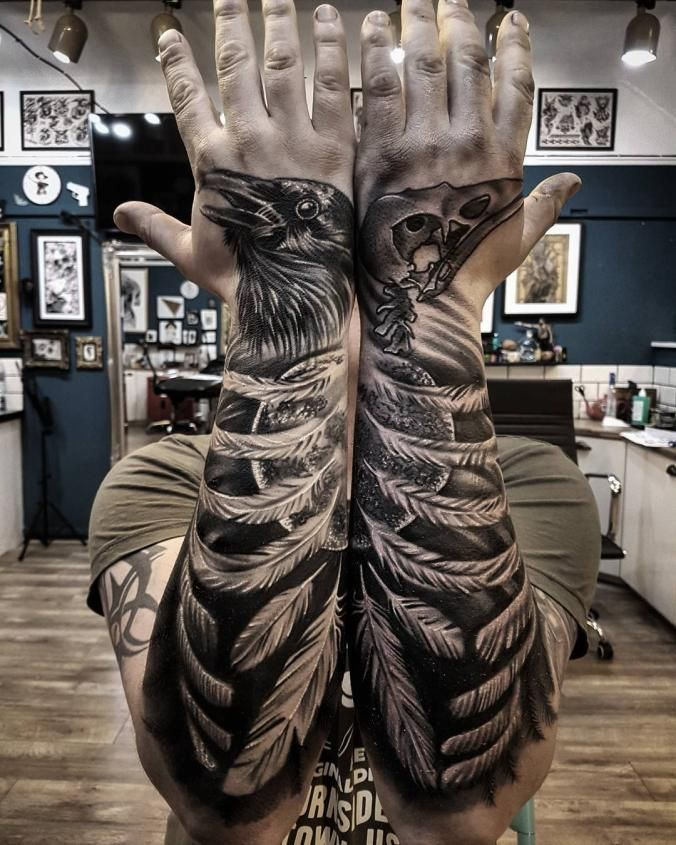 I wouldn't get this but if a guy had it, that would be cool. Also I would prefer two birds... not a bird and a bird skull! LOL.