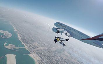 This footage of two guys flying with jet packs next to an A380 will blow your mind
