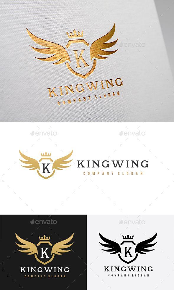 King Wing Logo Template Vector EPS, AI Illustrator. Download here: https://graphicriver.net/item/king-wing/17367313?ref=ksioks