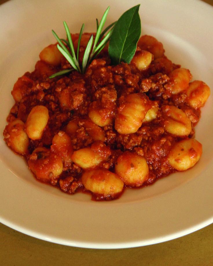 Gnocchi with lamb ragu