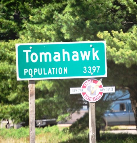 Tomahawk, Wisconsin - chop chop