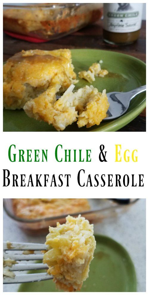 This Green Chile and Egg Breakfast Casserole is prepped in under 10 minutes and ready to eat in an hour. This breakfast casserole is full of flavor.