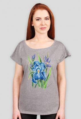 Koszulka damska z akwarelą.