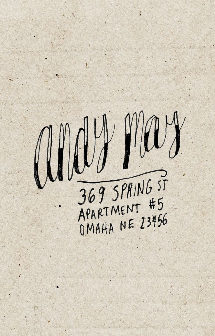 custom return address label - hand drawn personalized name & address - andy may style. $20.00, via Etsy.
