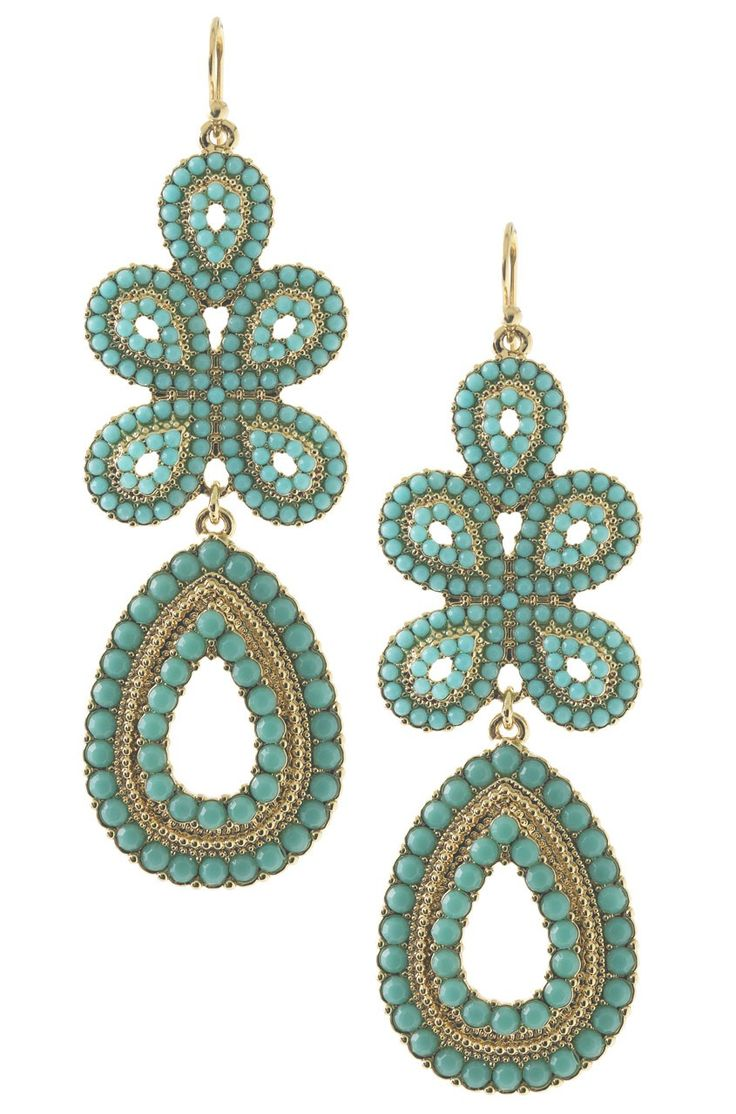 Capri Chandelier Earrings  $49.00   They come in Coral too!