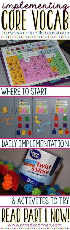 Where do you start with implementing Core Vocabulary/AAC into your classroom? How do you implement in daily?