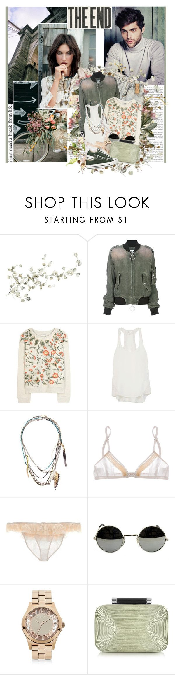"""""""I do my make up in somebody else's car we, order different drinks at the same bars"""" by winfreda ❤ liked on Polyvore featuring WALL, Off-White, Alice + Olivia, rag & bone, Iosselliani, Miu Miu, Marc by Marc Jacobs, Diane Von Furstenberg and Converse"""
