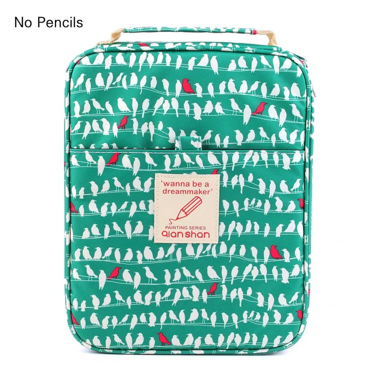 Universal Pencil Bag organizer for 100 120 132 144 150 colored Pencils slots holder pen case School Stationery PencilCase Drawing Painting Storage shell Pouch pencil box qianshan (not pencils) birds