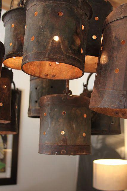 Best 25 bucket light ideas on pinterest rustic porches - Exterior industrial light fixtures ...