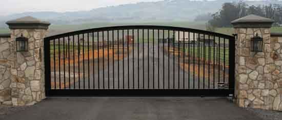 Wrought iron gates, driveway gates, gate automation