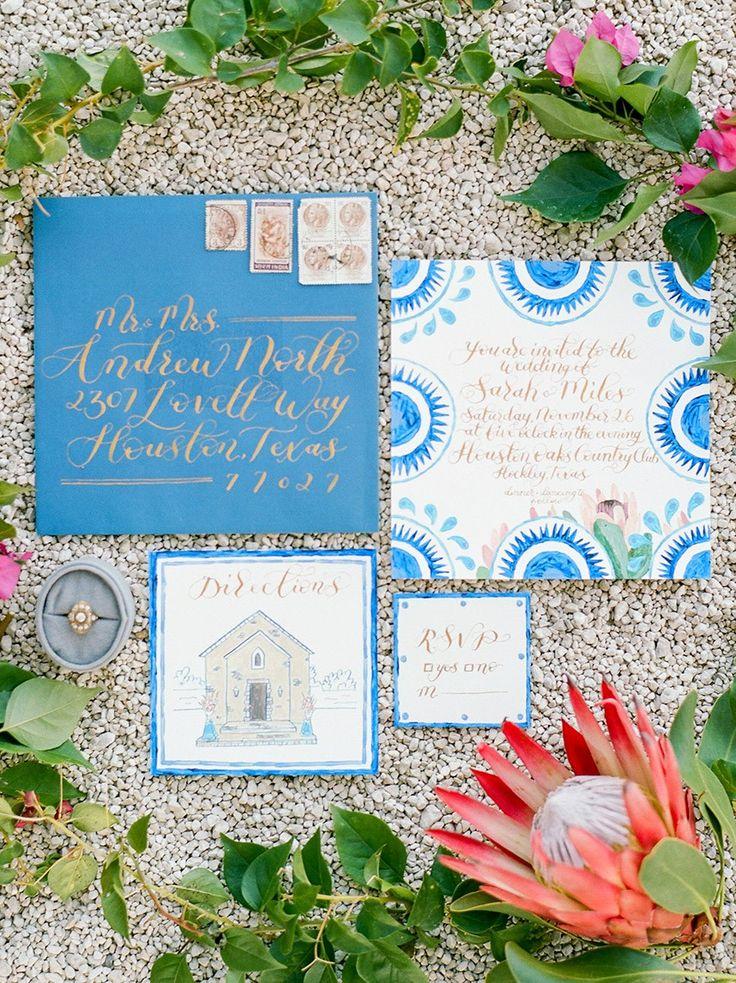 sister marriage invitation letter format%0A Spanish Inspired Wedding Invitation   Dana  u     Josh Fernandez   Bramble  u     Bee   bridesofhouston