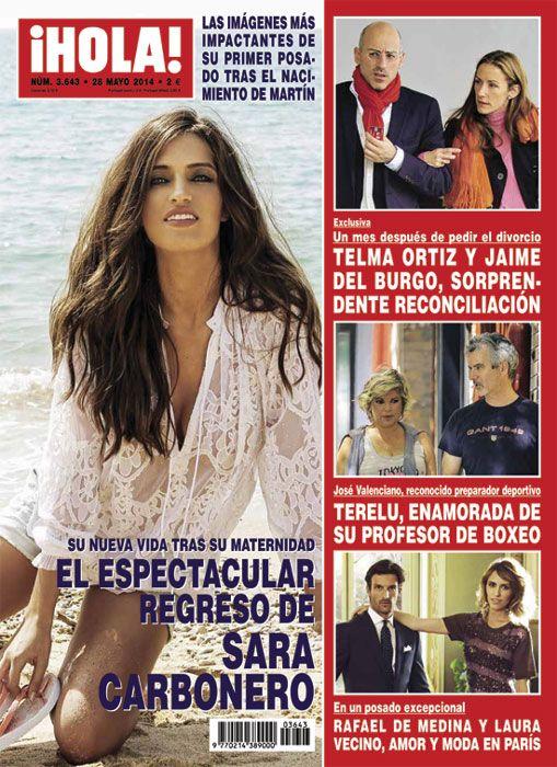Sara Carbonero aparece deslumbrante esta semana en la portada de la revista ¡HOLA! en su primer trabajo tras la maternidad #magazine #revista #hola