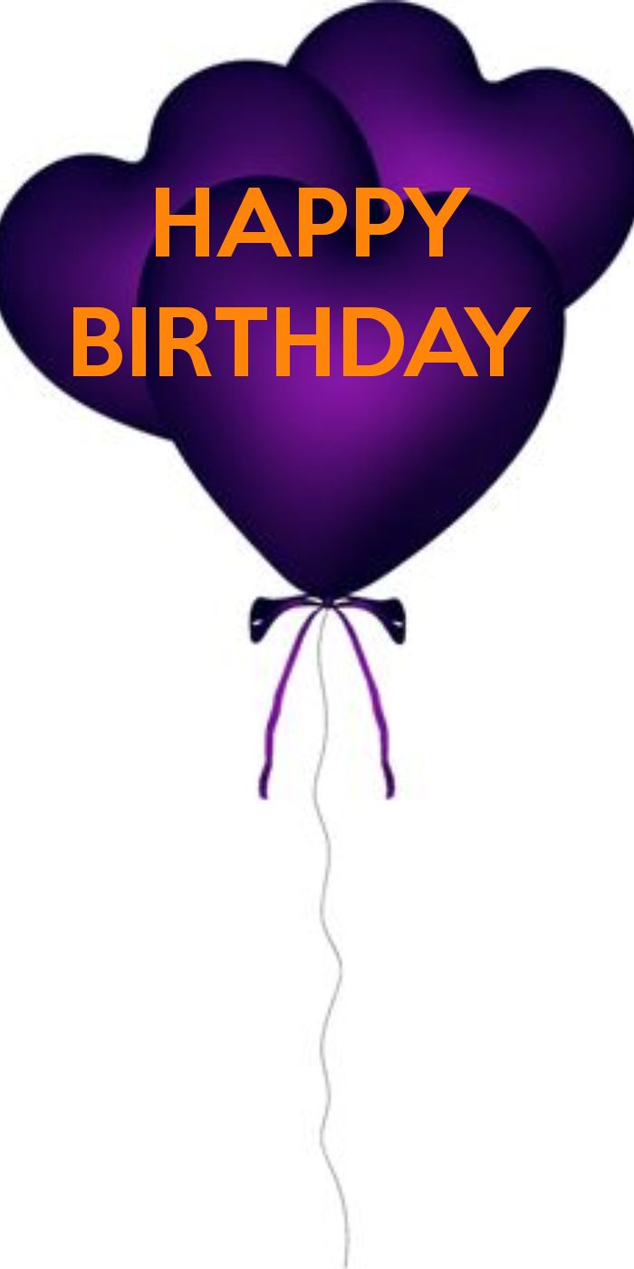 HAPPY  BIRTHDAY PURPLE BALLOONS