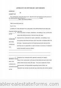 Sample Printable affidavit of ownership 4 Form