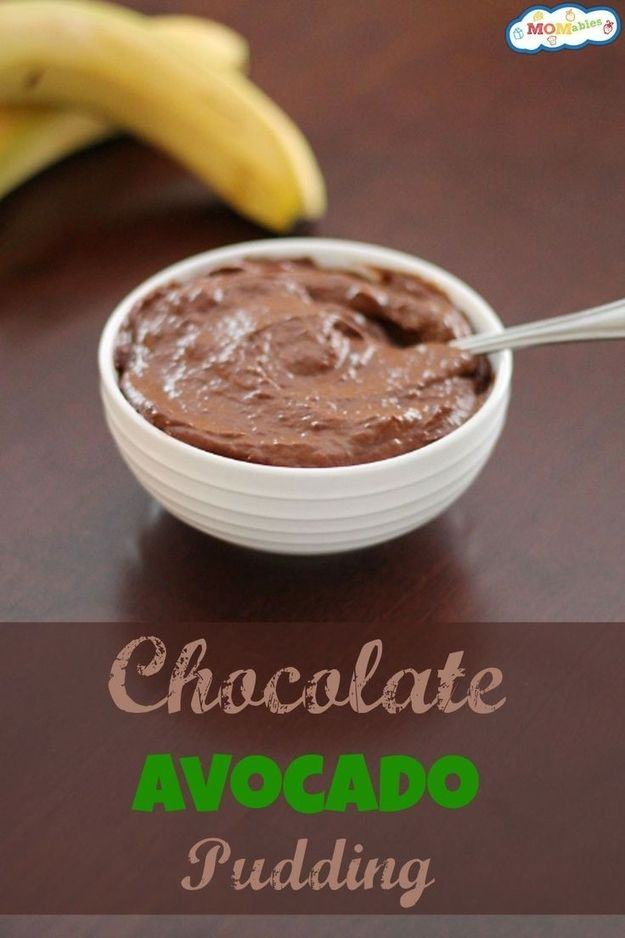 interesting...Chocolate Avocado Pudding | 27 Healthy Versions Of Your Kids' Favorite Foods