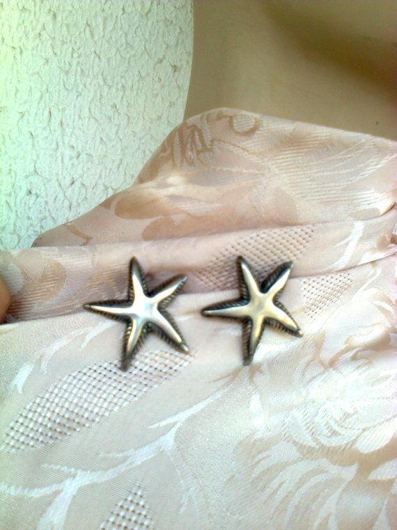 starfish sterling silver 925 clip earrings/ by Vintageandelegant, €45.00