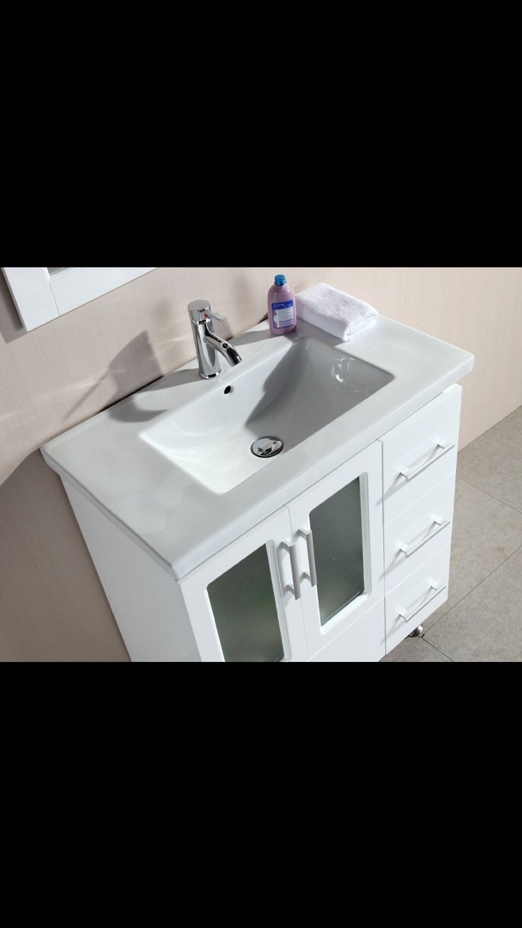 Black vanity salons vanities habitats the mirror outlets mirror - Find This Pin And More On 32 Inch Bathroom Vanities By Btsvv