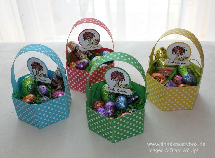 Osterkörbchen mit Produkten von Stampin' Up!