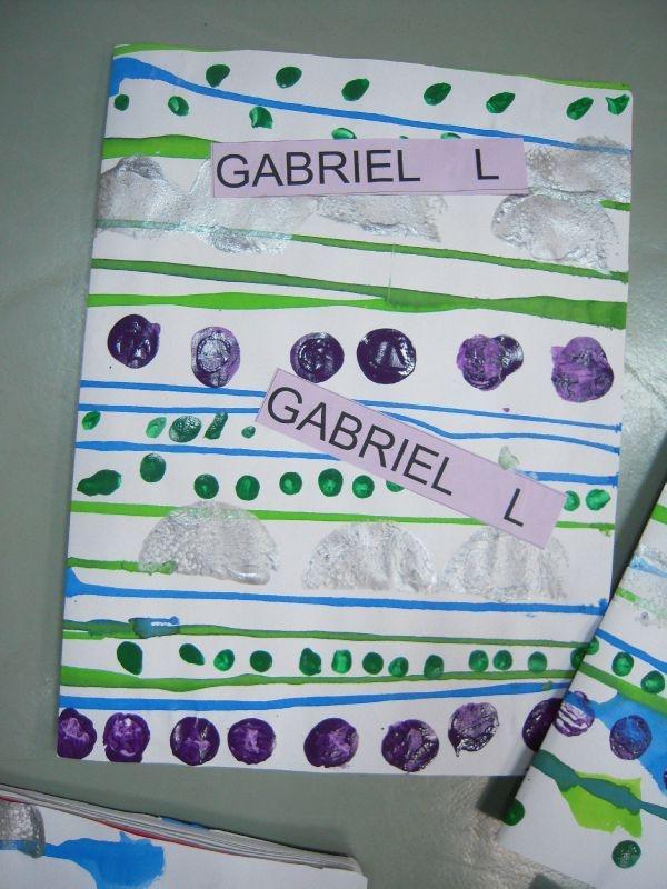 couverture de cahier - maternelle
