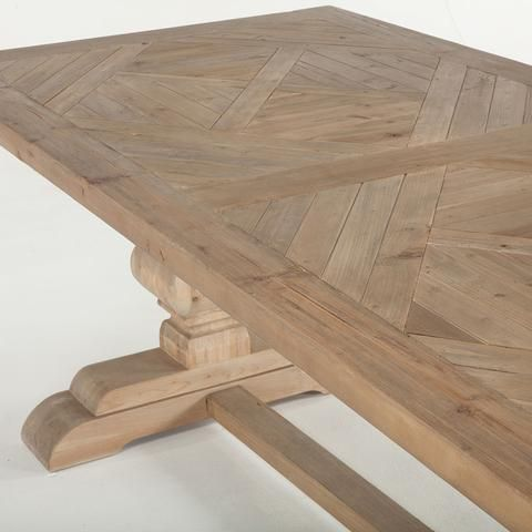 25 best ideas about solid wood dining table on pinterest for Solid wood farmhouse table