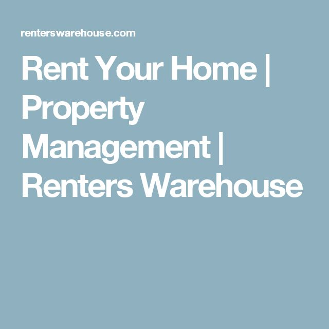 Rent Your Home | Property Management | Renters Warehouse