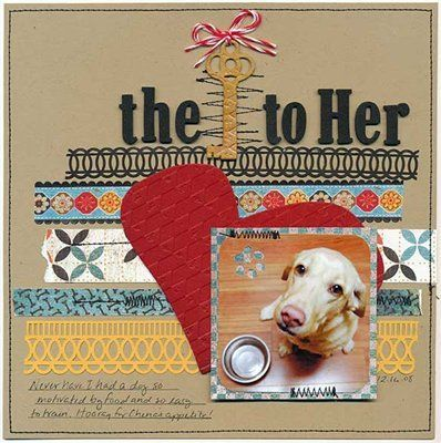 cute dog #scrapbook#page*layout*!   Scrapbooking- Pages ...