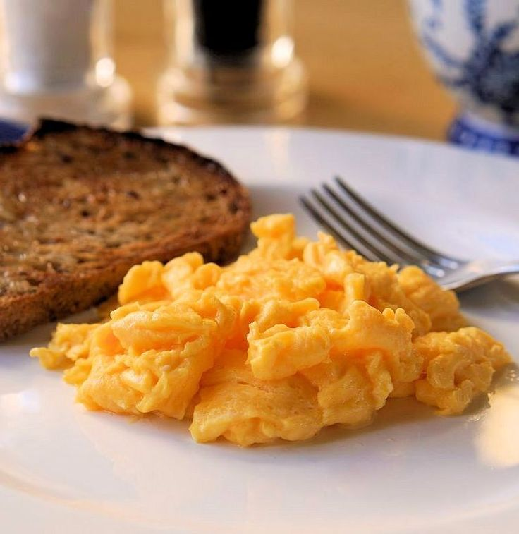 These eggs are light and fluffy. http://www.cautiousvegetarian.ca/recipe/perfect-scrambled-eggs/