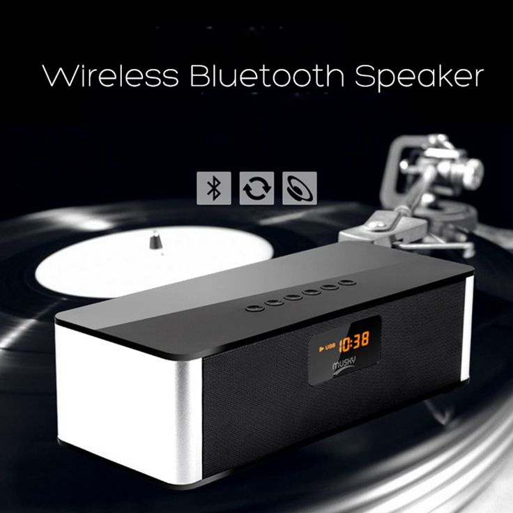 Wireless Bluetooth Speaker Subwoofer Support USB/TF Card/FM Radio/AUX/Clock/LED Display.