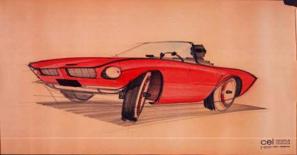 A concept sketch of the 1963 Avanti by Raymond Loewy.