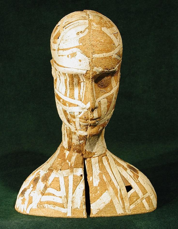 Anna Klimešová, Head, grog clay #clay #sculpture #head
