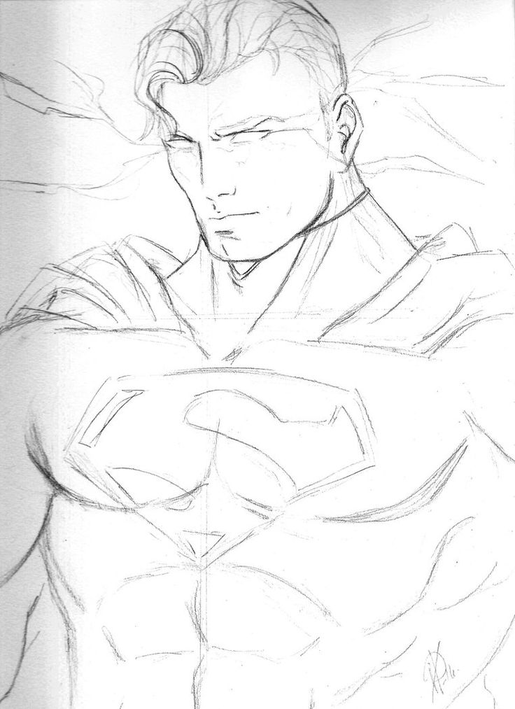 Superman Drawing by AlexaWayne on DeviantArt