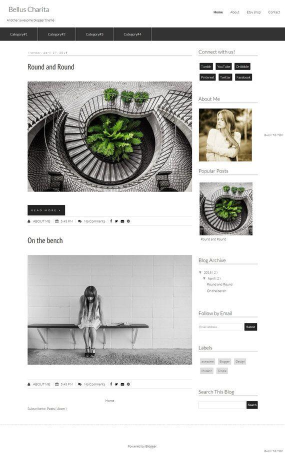 Premade blogger Template  Blogger Theme Design by DigitalBeautiful
