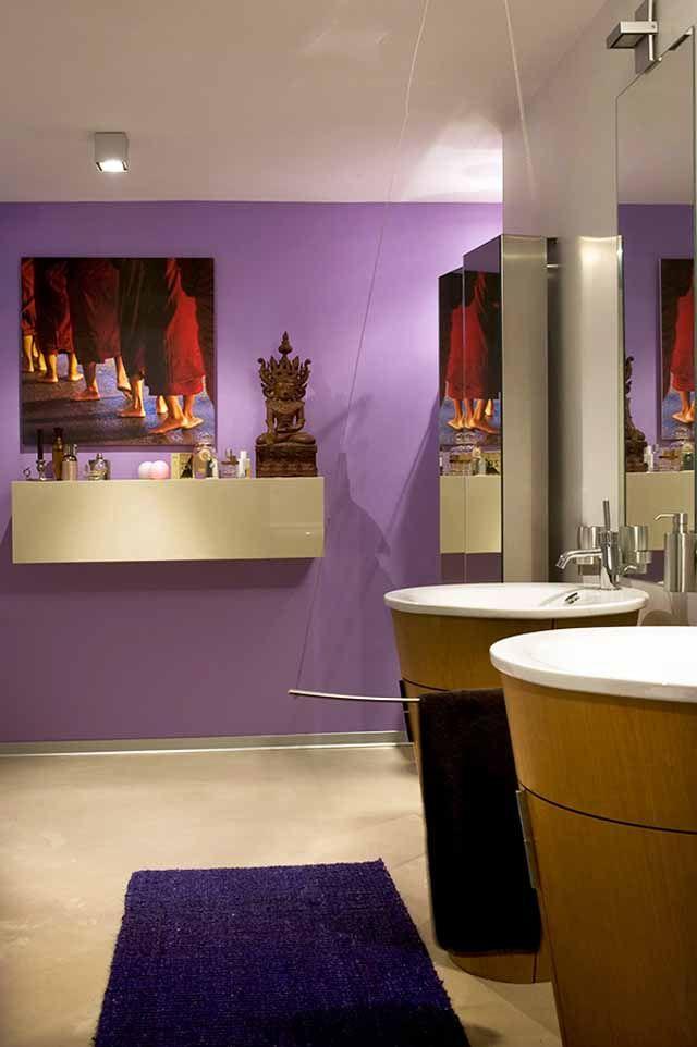 Die besten 25+ Lila moderne badezimmer Ideen auf Pinterest - wohnzimmer grau lila