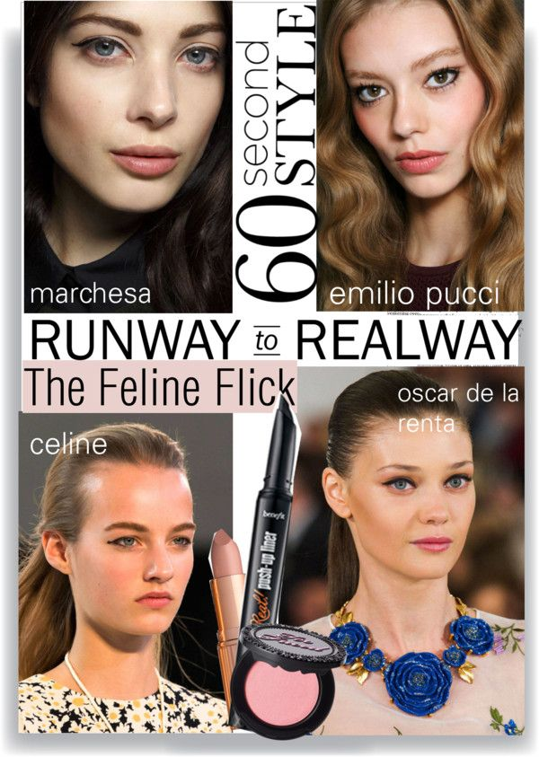 """The Feline Flick"" by bellablondie ❤ liked on Polyvore"