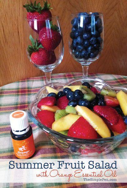 Summer Fruit Salad with Orange Essential Oil || TheSimplePen.com