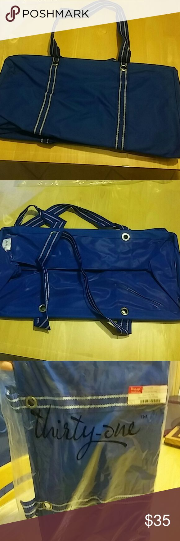 NWT Thirty-One. Large Utility Tote NWT Thirty-One Large Utility Tote Spirit Royal Blue Thirty-One Bags Totes